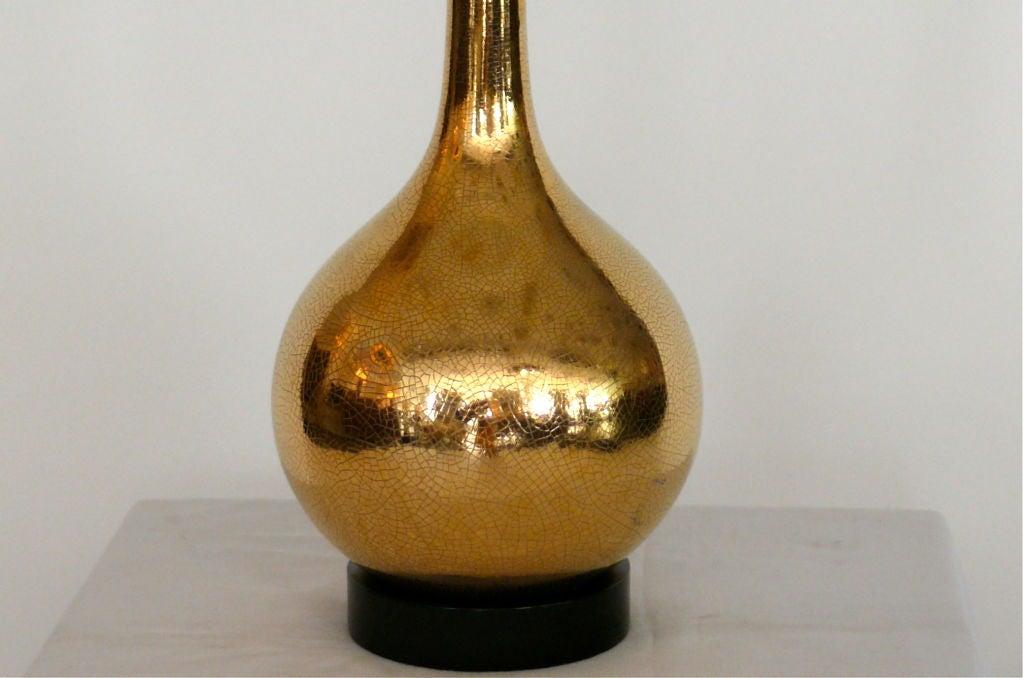 gold crackled mercury glass lamps at 1stdibs. Black Bedroom Furniture Sets. Home Design Ideas