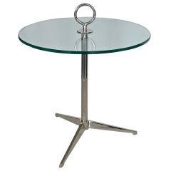 Italian Nickel Tripod Table