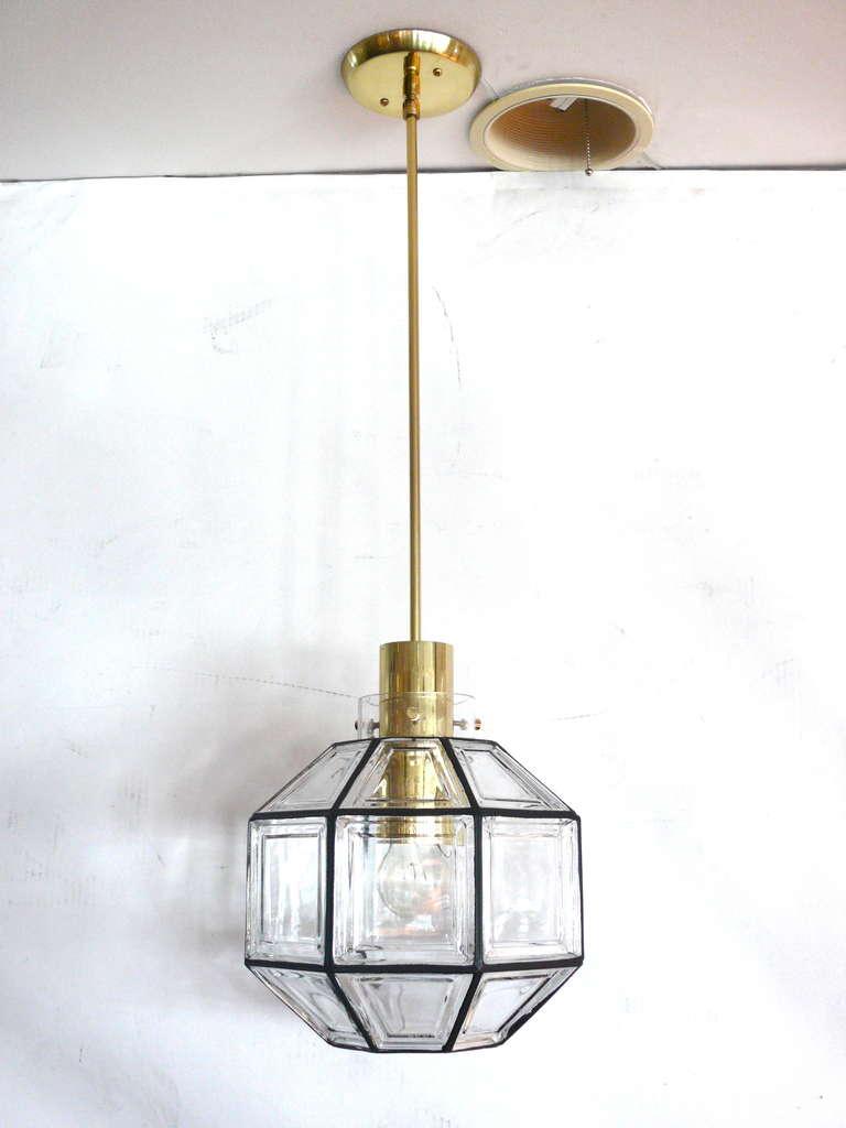Large Iron And Glass Lantern Pendant At 1stdibs
