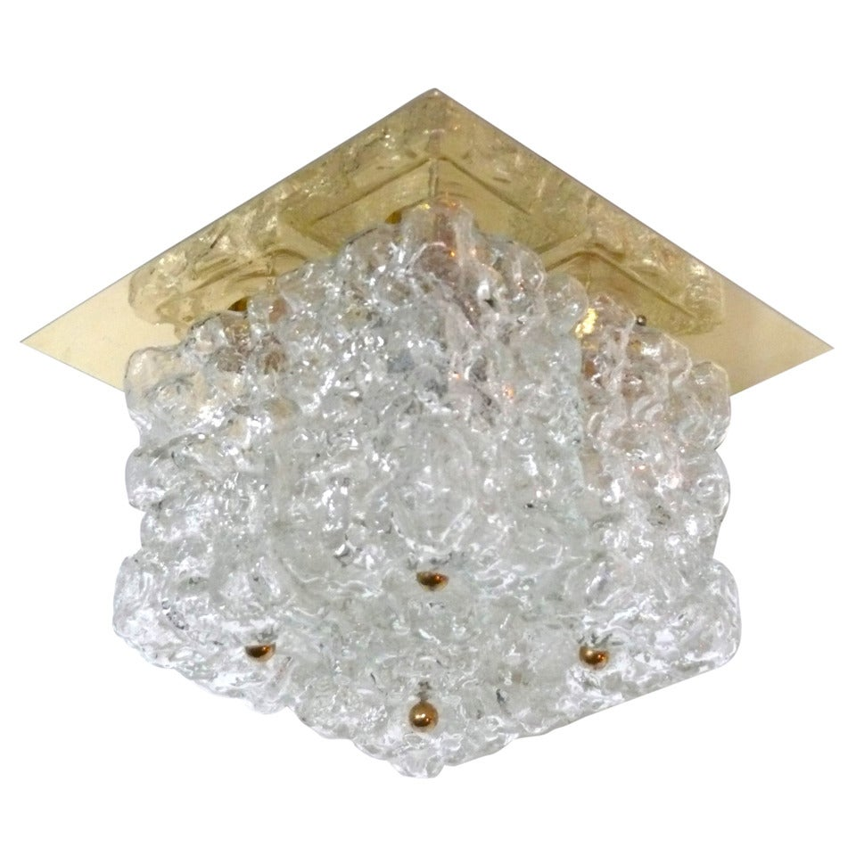 Ice Glass Flush Mount