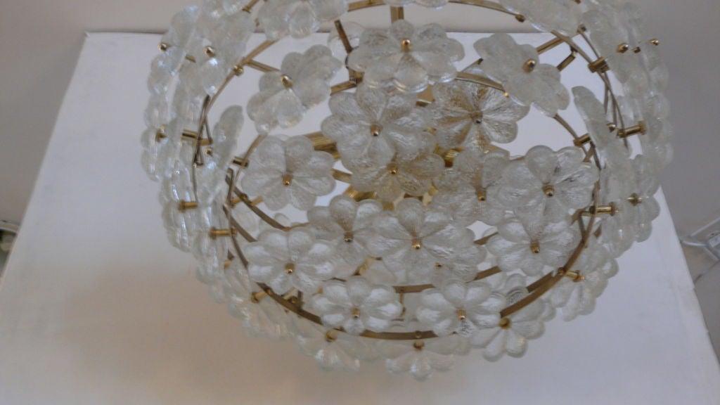 Large Floral Glass Chandelier By Ernest Palme At 1stdibs