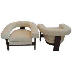 Wool Boucle Horseshoe Chairs