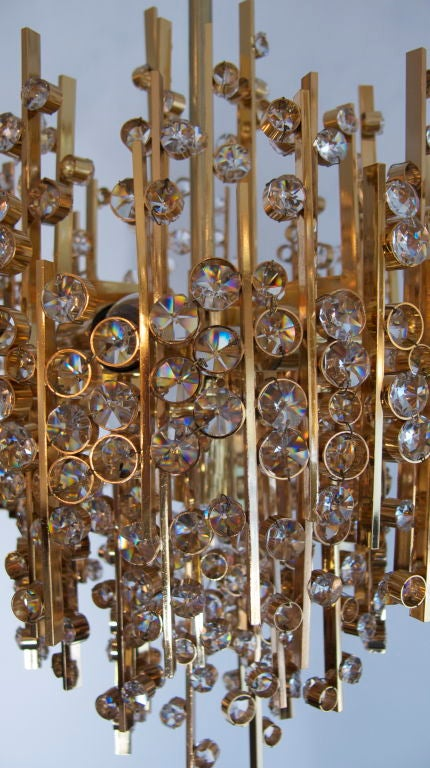 Large Pendant Chandelier By Palwa At 1stdibs