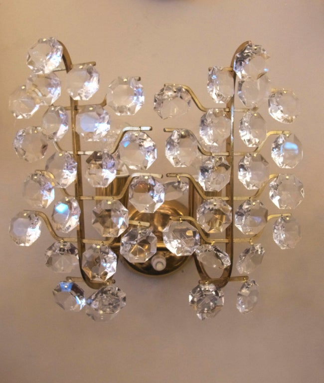Italian Crystal Wall Lights : Italian Crystal Sconces at 1stdibs
