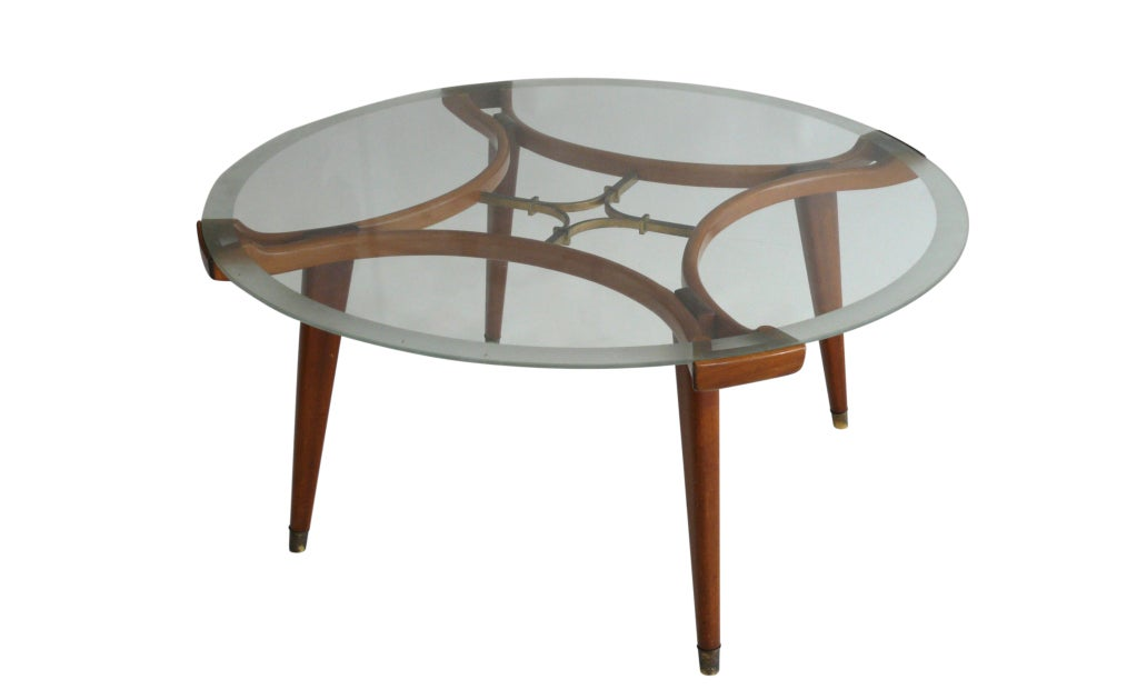 Coffee Table In The Style Of Gio Ponti At 1stdibs