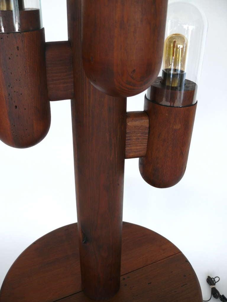 Wood Cactus Floor Lamp at 1stdibs