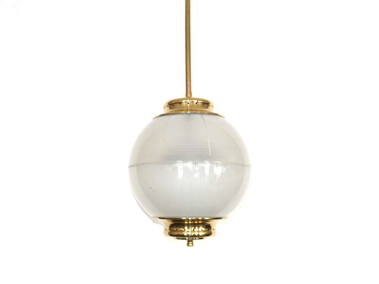 Brass and Glass Pendant by Stilnovo 2