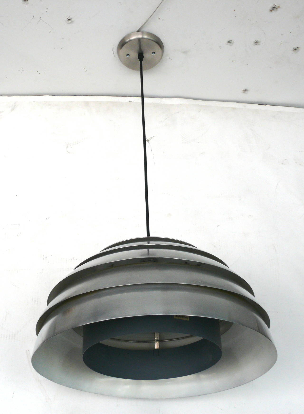 Chrome Beehive Pendant by Hans-Agne Jakobsson For Sale 1