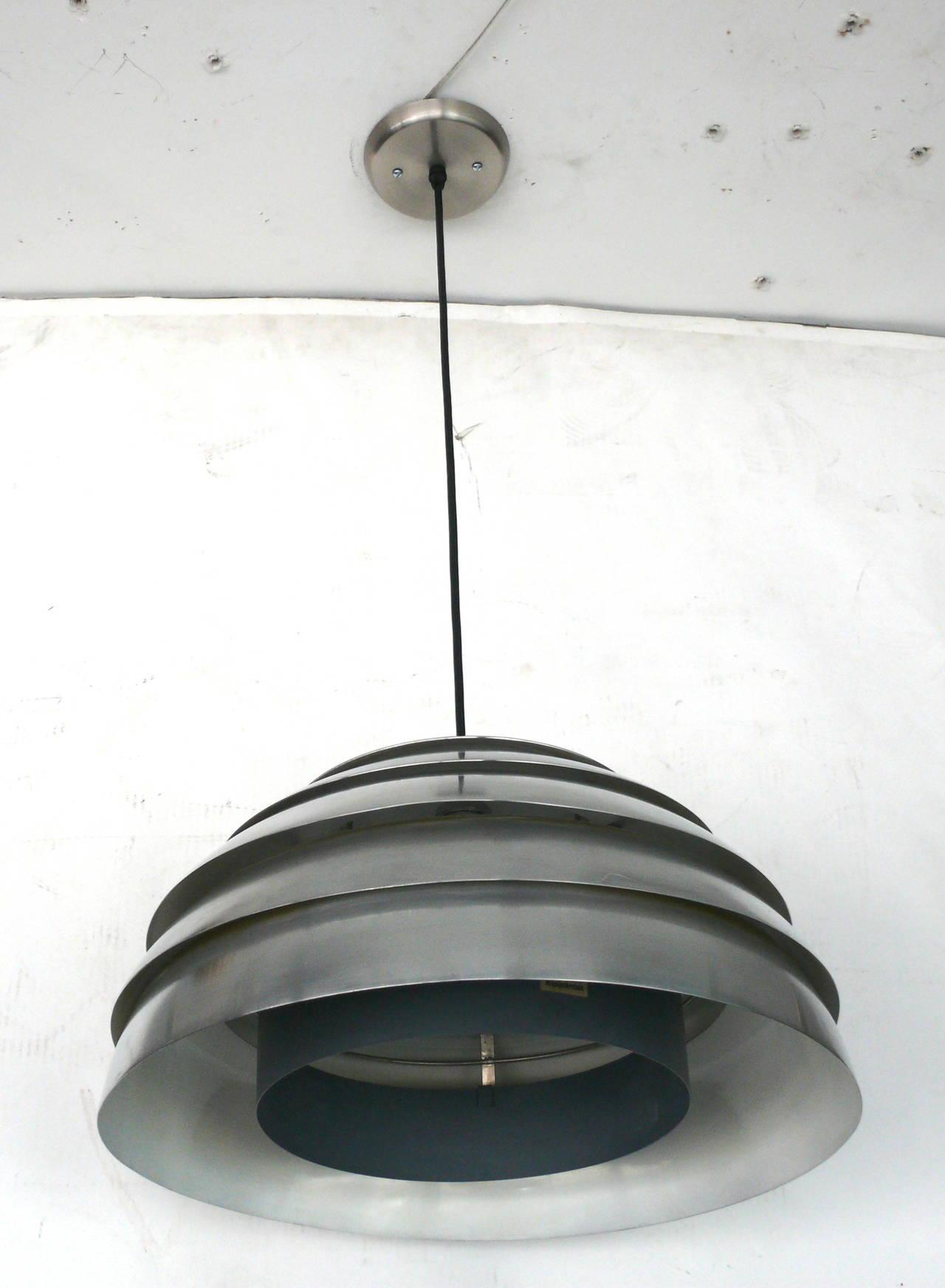 Chrome Beehive Pendant by Hans-Agne Jakobsson 6