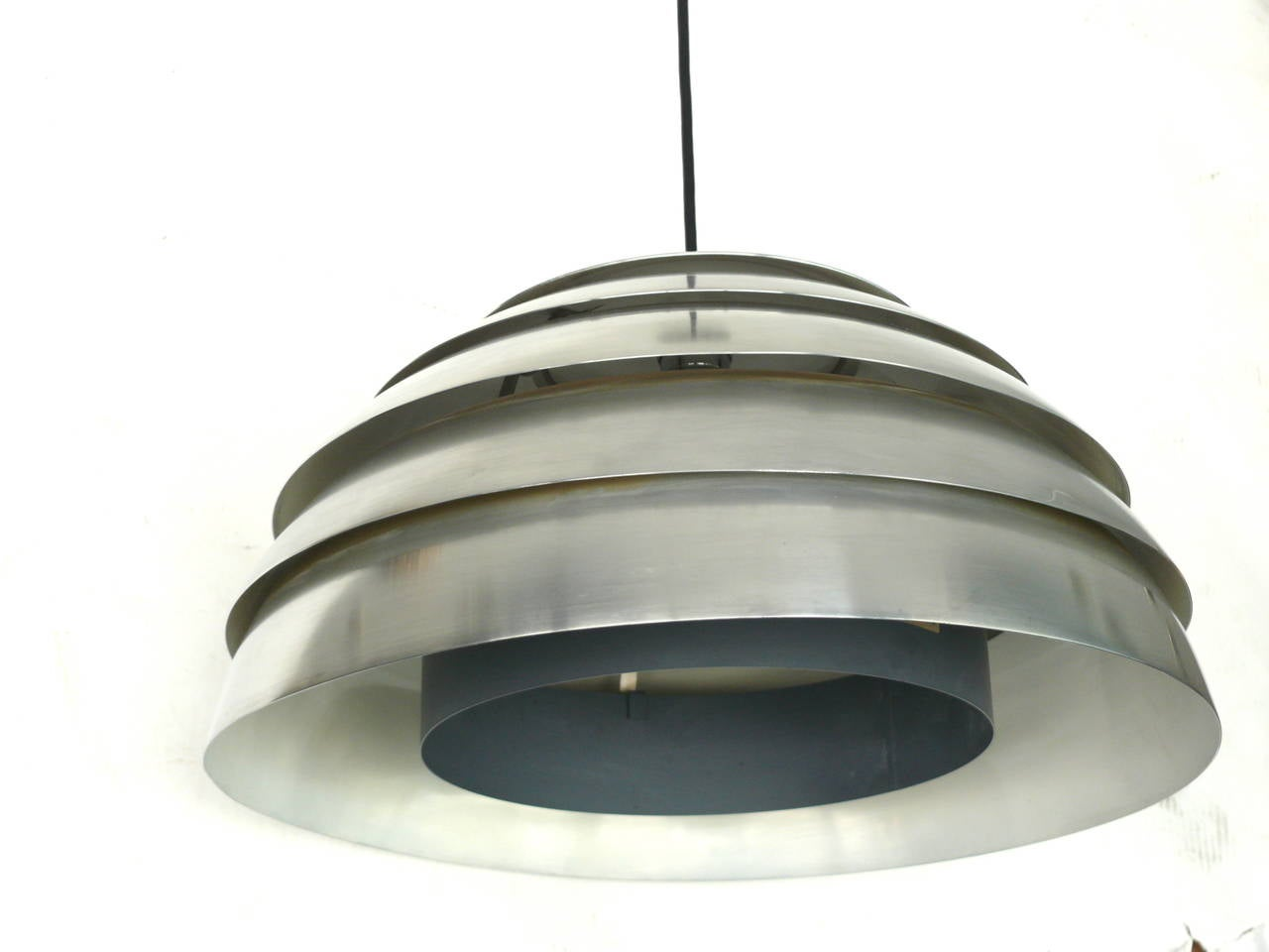 Mid-20th Century Chrome Beehive Pendant by Hans-Agne Jakobsson For Sale