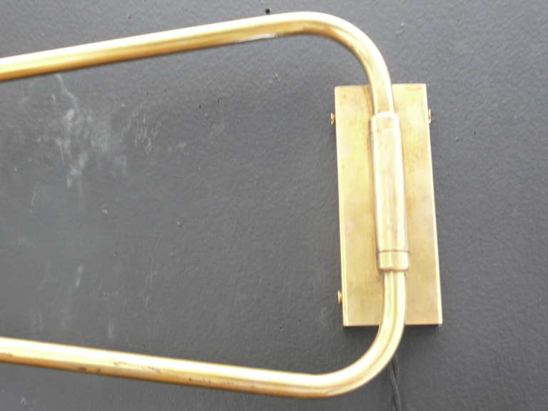 Mid-20th Century Articulating Wall Sconce by Pierre Guariche For Sale