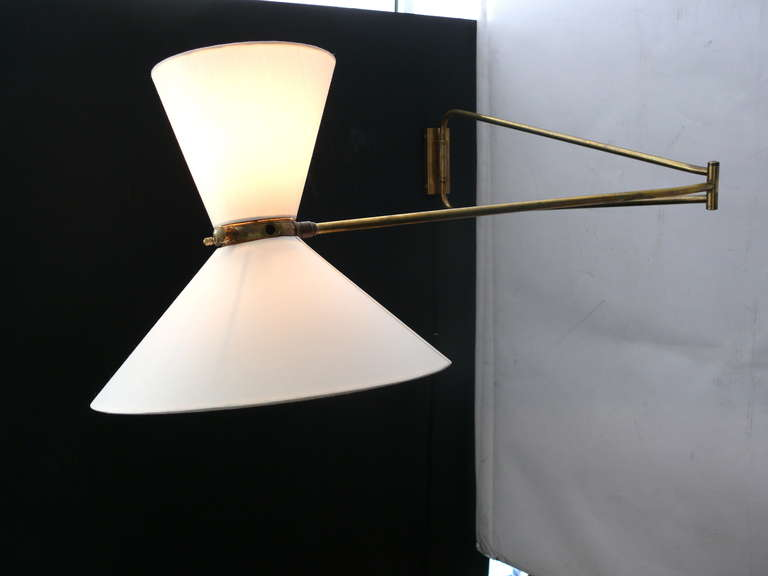 Articulating Wall Sconce by Pierre Guariche For Sale 2