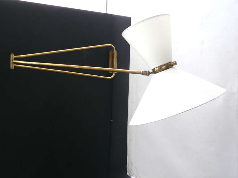 French Articulating Wall Sconce by Pierre Guariche For Sale