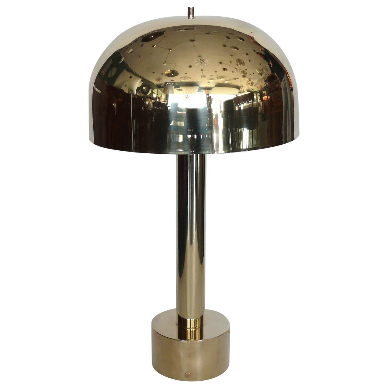 large brass dome lamp at 1stdibs. Black Bedroom Furniture Sets. Home Design Ideas