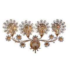 Large Palwa Floral Crystal Sconce