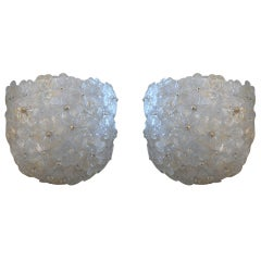 Pair of Barovier Flower Sconces