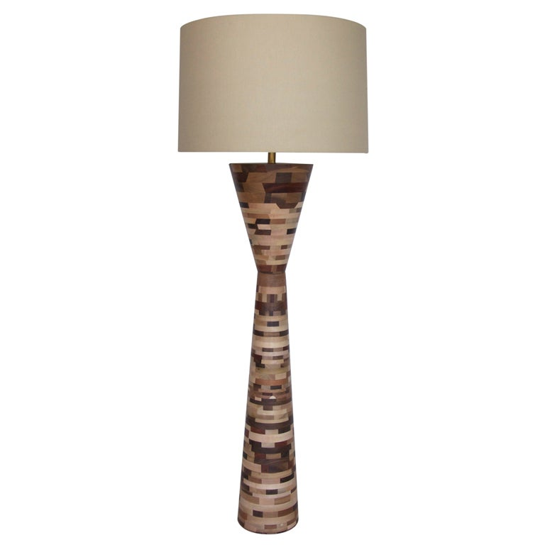 reclaimed wood floor lamp at 1stdibs. Black Bedroom Furniture Sets. Home Design Ideas
