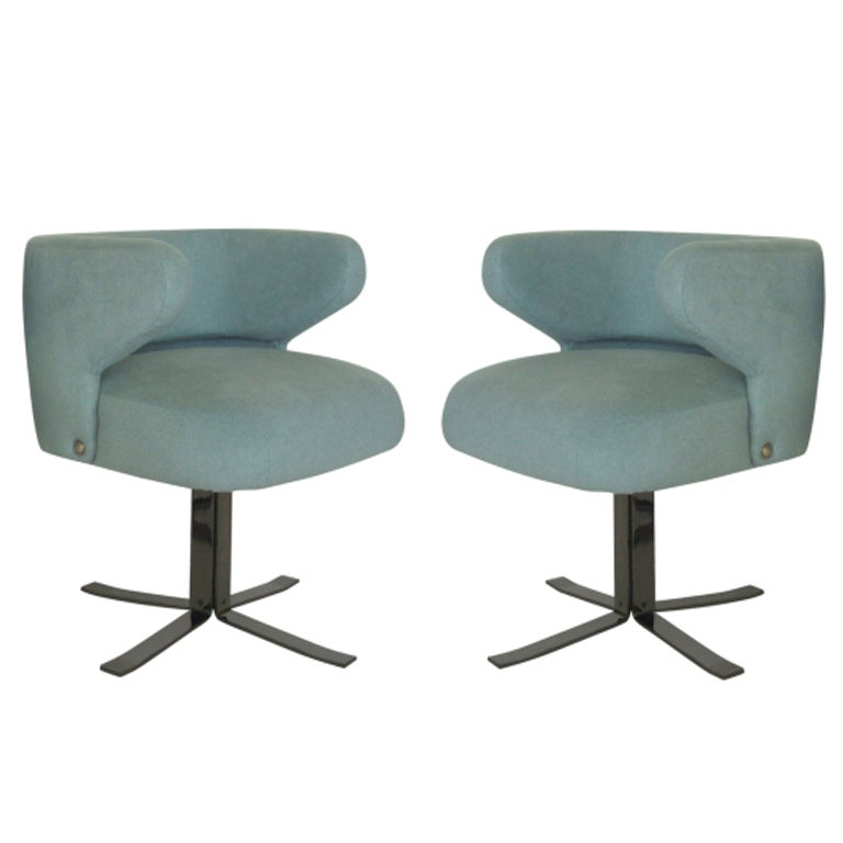 italian swivel dining chairs at 1stdibs