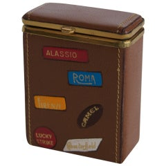 Vintage Italian Leather Cigarette Case
