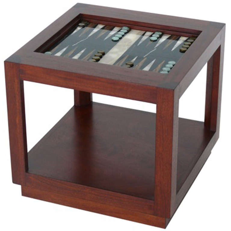 Wood and marble backgammon table at 1stdibs - Archives departementales 33 tables decennales ...