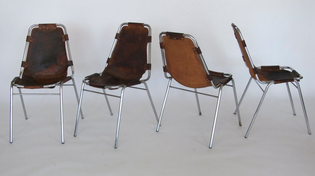 """Set of 6 """"Les Arc"""" Chairs by Charlotte Perriand 10"""