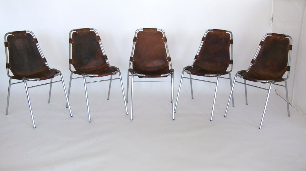 """Set of 6 """"Les Arc"""" Chairs by Charlotte Perriand 2"""