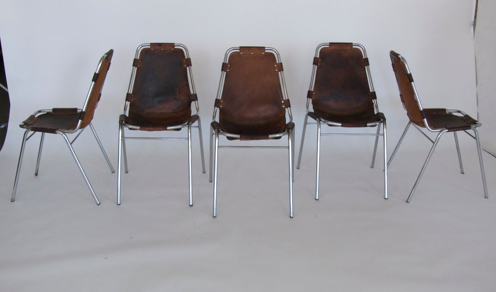"""Set of 6 """"Les Arc"""" Chairs by Charlotte Perriand 3"""