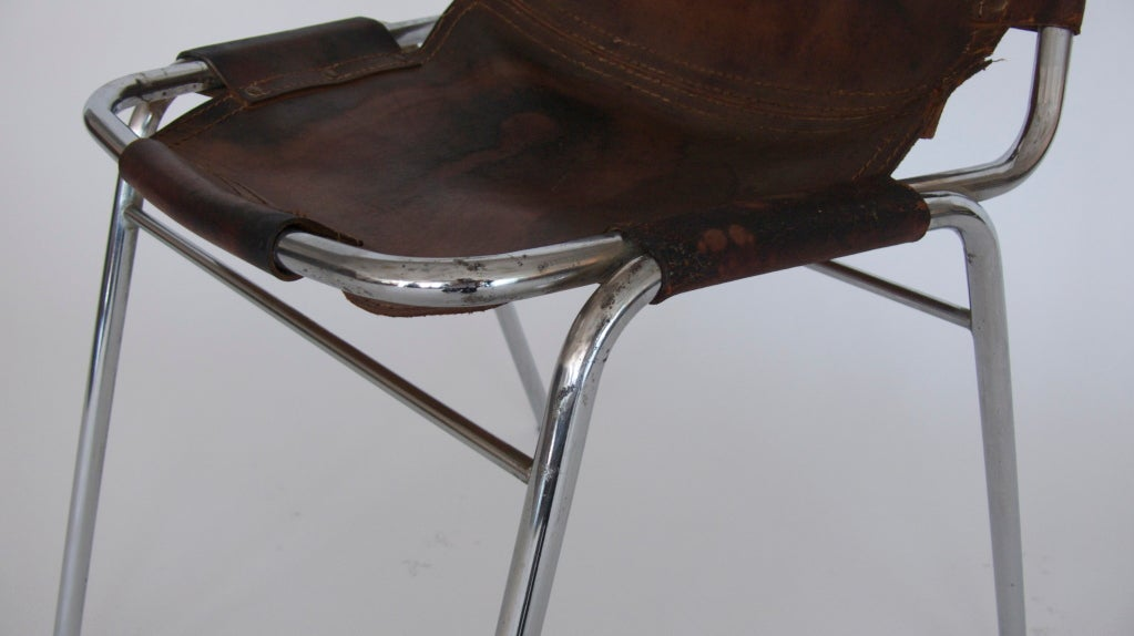 """Set of 6 """"Les Arc"""" Chairs by Charlotte Perriand 8"""