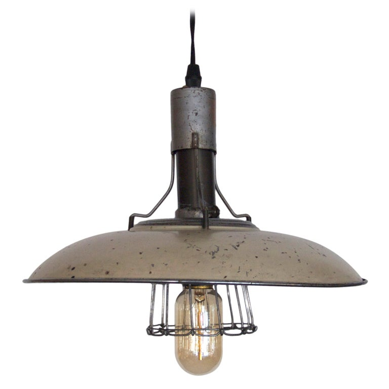 French Industrial Cage Light At 1stdibs