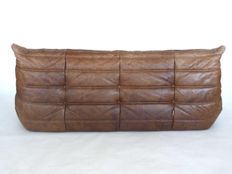 togo leather sofa by michel ducaroy for ligne roset at 1stdibs. Black Bedroom Furniture Sets. Home Design Ideas