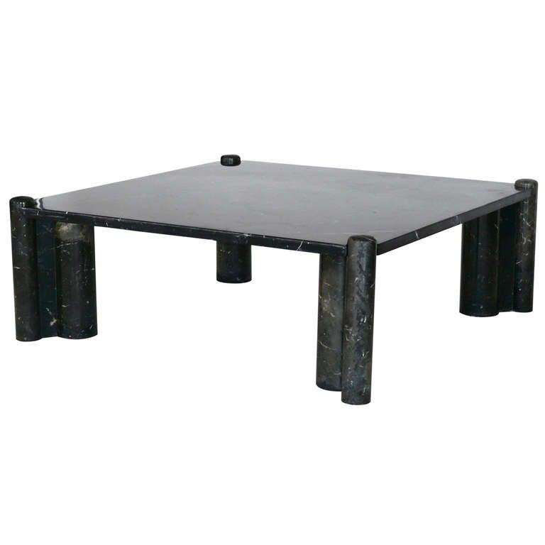 Black Marble Jumbo Coffee Table By Gae Aulenti At 1stdibs