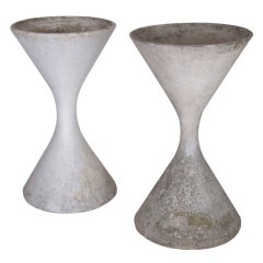 Pair of Large Willy Guhl Cement Planters