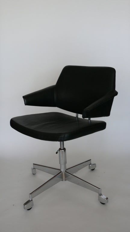 Black Leather Desk Chair By Duba At 1stdibs