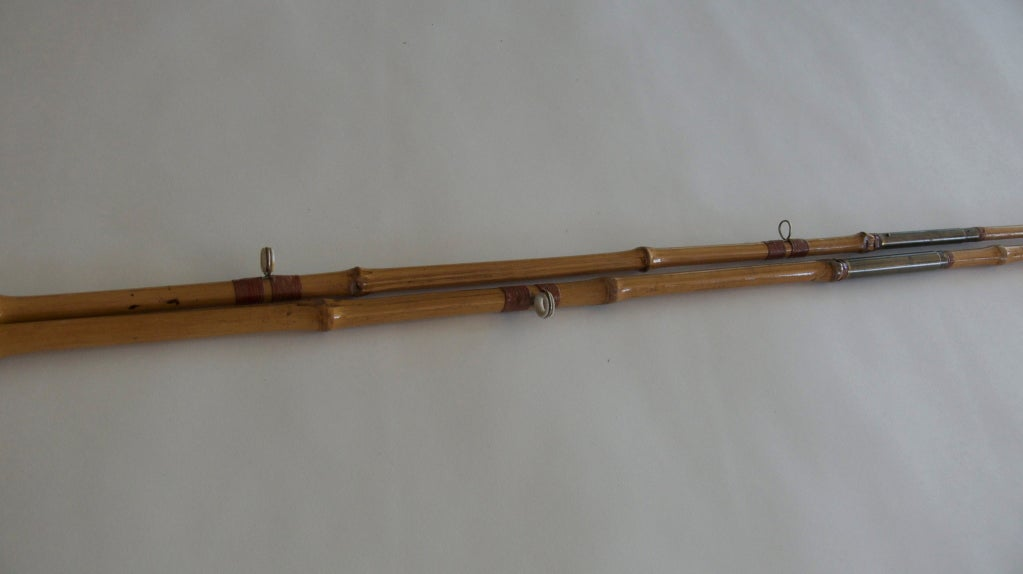 Pair of vintage bamboo fishing poles at 1stdibs for Vintage fishing poles