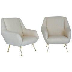 Wool Boucle Italian Chairs