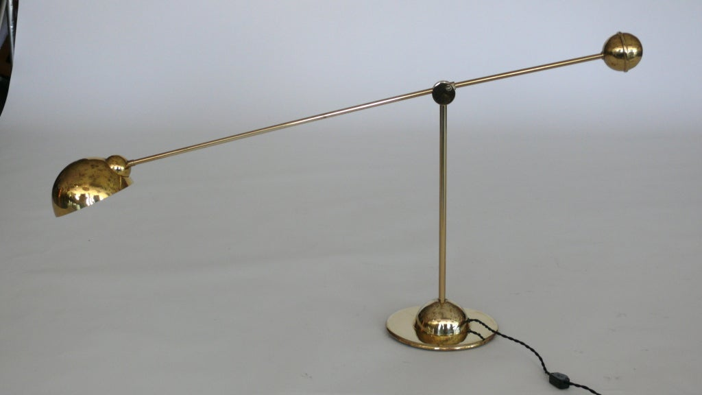 Large Brass Adjustable Task Lamp At 1stdibs