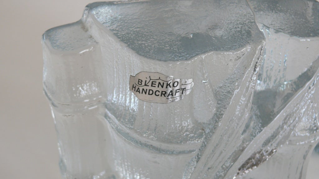 Blenko Glass Quot Bamboo Quot Bookends At 1stdibs
