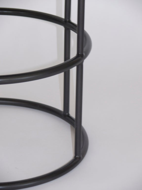 Iron And Leather Circular Bar Stools For Sale At 1stdibs