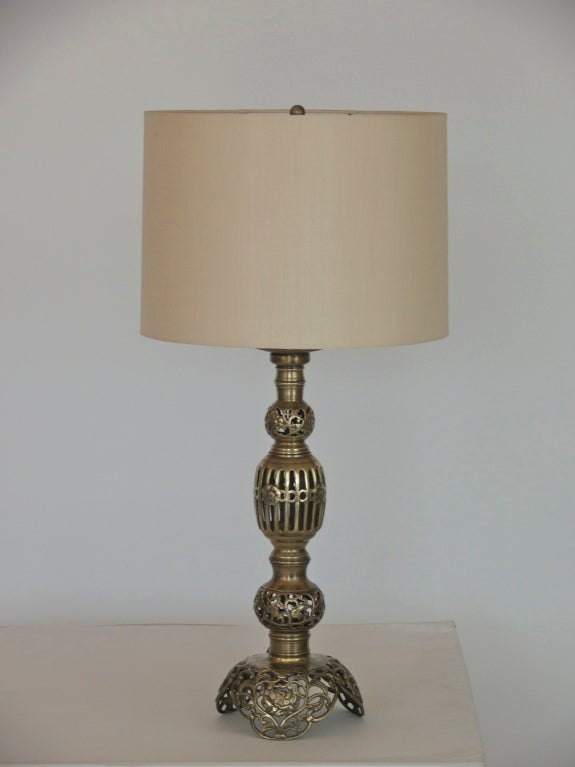 moroccan style brass lamps at 1stdibs. Black Bedroom Furniture Sets. Home Design Ideas