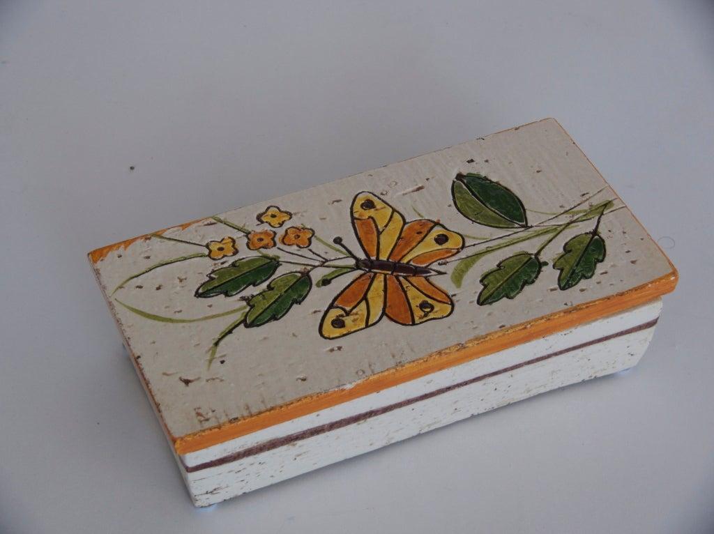Vintage Italian Ceramic Box At 1stdibs