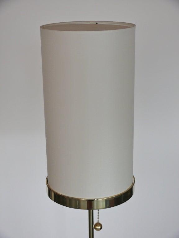 Wilshire Brass Floor Lamp By Orange Los Angeles For Sale