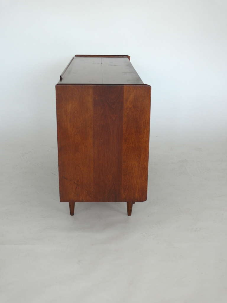 Oak Credenza By Russel Wright For Conant Ball At 1stdibs