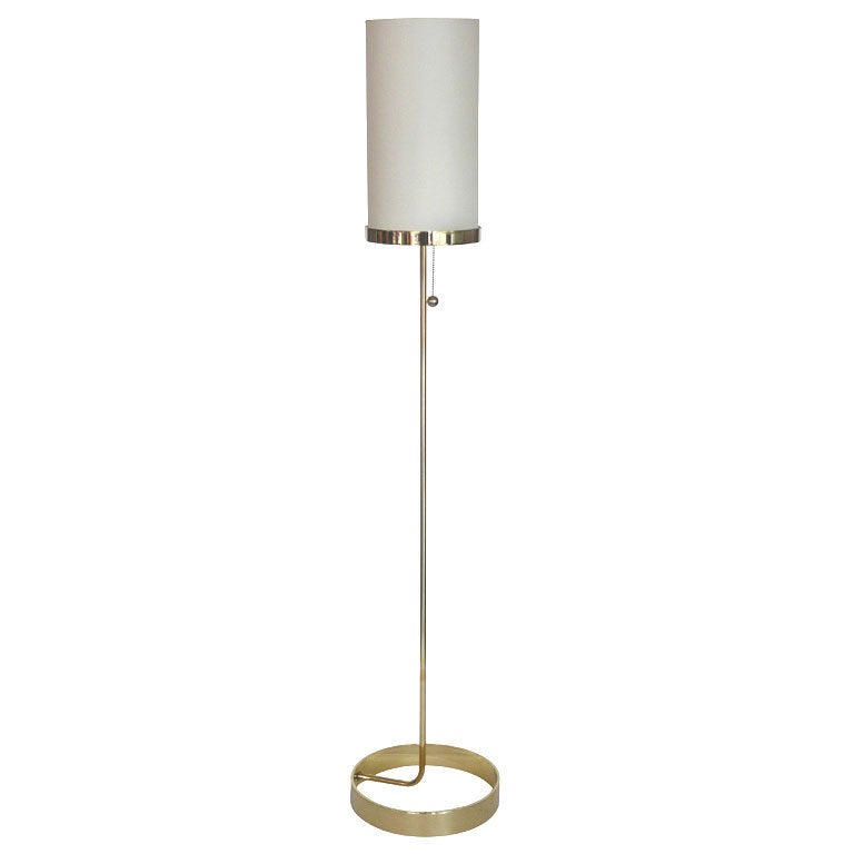 Wilshire brass floor lamp by orange los angeles for sale for Orange metal floor lamp