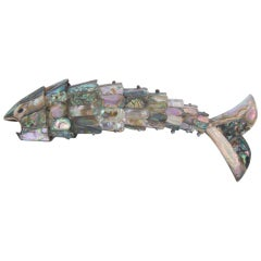 Mother of Pearl Articulating Fish Bottle Opener