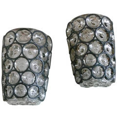 Iron and Glass Sconces