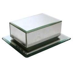 French Art Deco Mirrored Cigarette Box