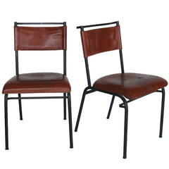 Pair of Jacques Adnet Chairs