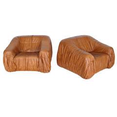 Pair of Chairs by Jonathan De Pas, Donato D'Urbino and Paolo Lomazzi