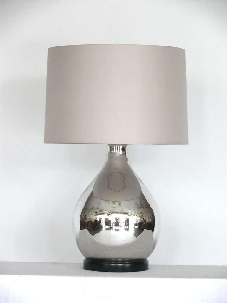 Mercury Glass Lamp At 1stdibs