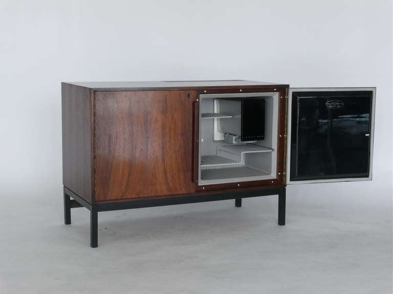 Danish Rosewood Bar Cabinet With Refrigerator By Silkeborg At 1stdibs